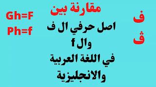 أصل حرف ال ف وال  f في العربية والانجليزية