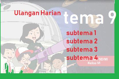 Download soal Ulangan Harian Tema 9 Kelas 6 terpadu dan Kunci Jawaban