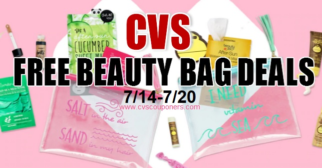 FREE Beauty Bag CVS Deals 714-720