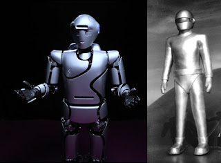 Surena IV is the one on the left with the Gort robot (right) vibes as seen in The Day the Earth Stood Still.