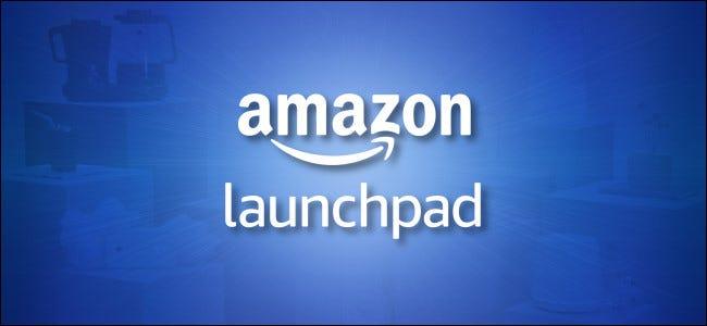 شعار Amazon Launchpad على خلفية زرقاء