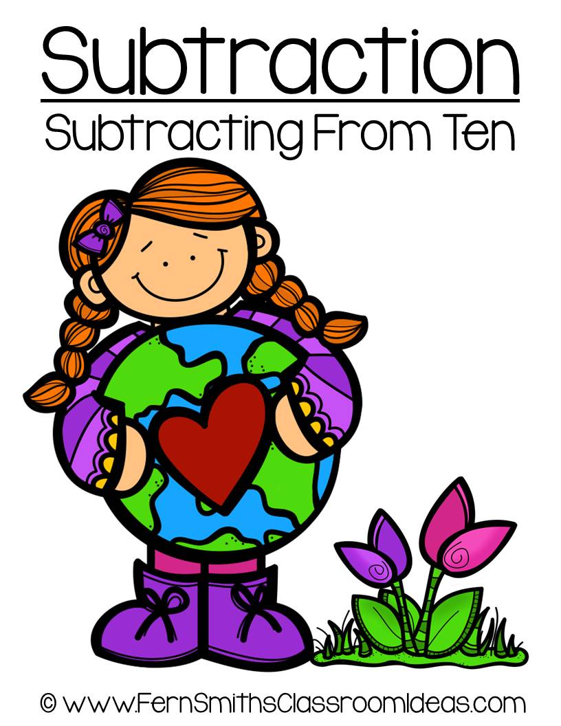 Earth Day - Subtract From Ten Center Game
