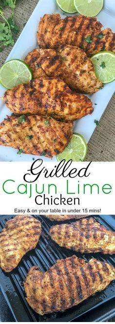 Grilled Cajun Lime Chicken