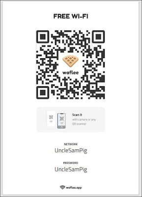 讓iPhone、Android手機用戶掃描『WiFi QR Code』直接登入『WiFi』無線網路。祝店家網速暢通、生意興隆。