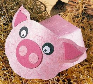 Visera sombrero  de cerdo con moldes para descargar