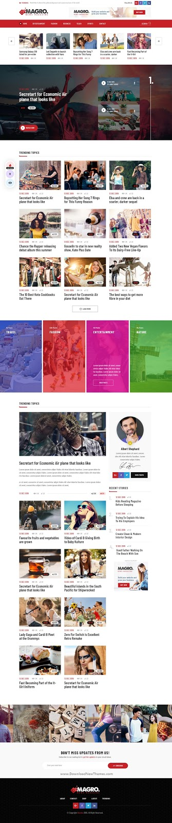 Blog & News Magazine PSD Template