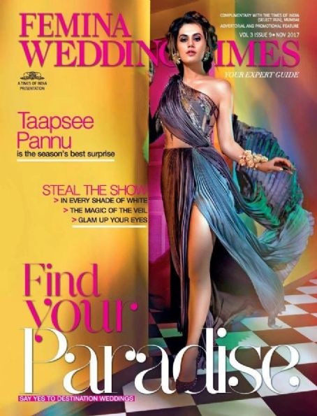 Taapsee Pannu On Femina Wedding Times November 2017 Cover