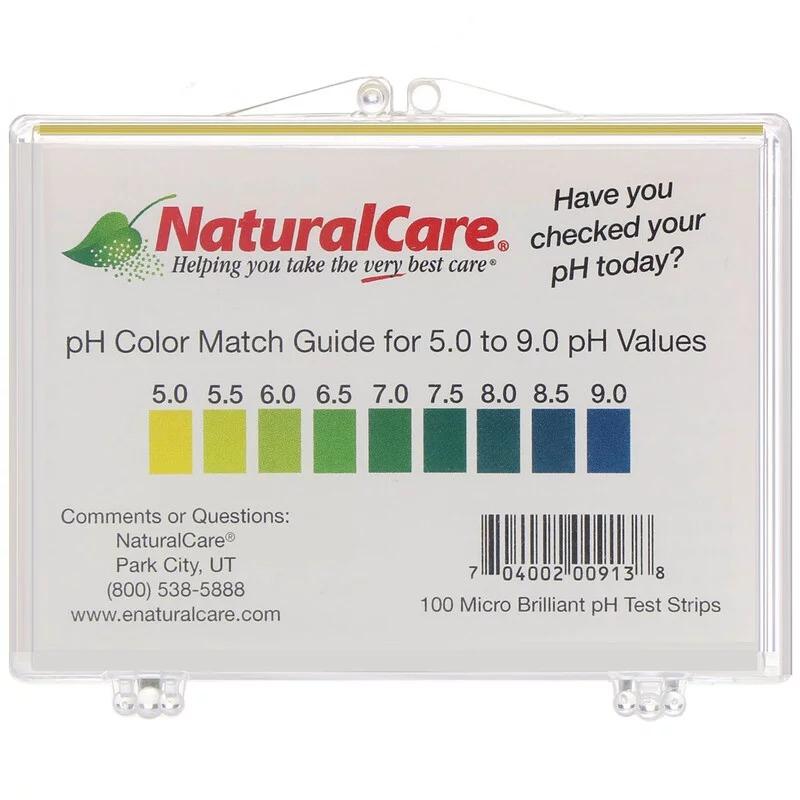 NaturalCare, Тест-полоски для определения pH, 100 полосок