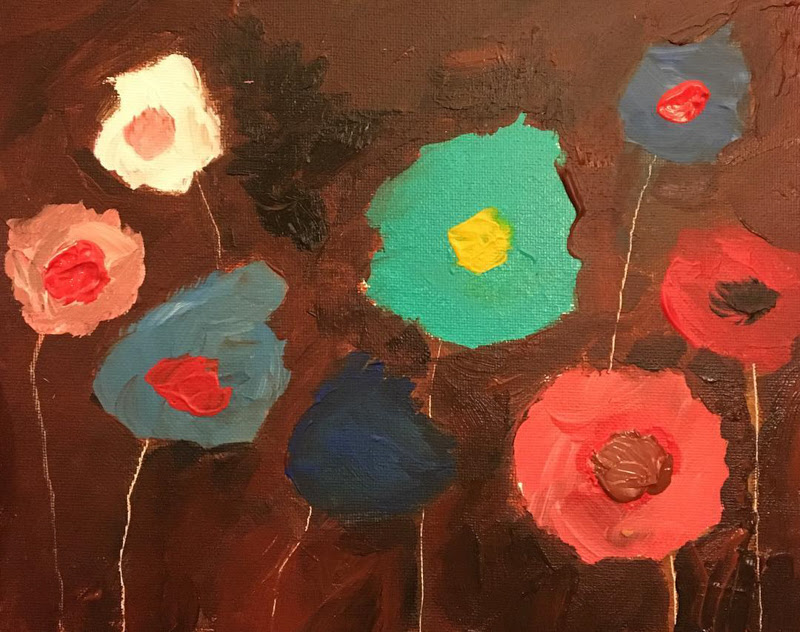 Abstract Expressionist Paintings of Flowers by Brian Wayne Jansen from Washington.