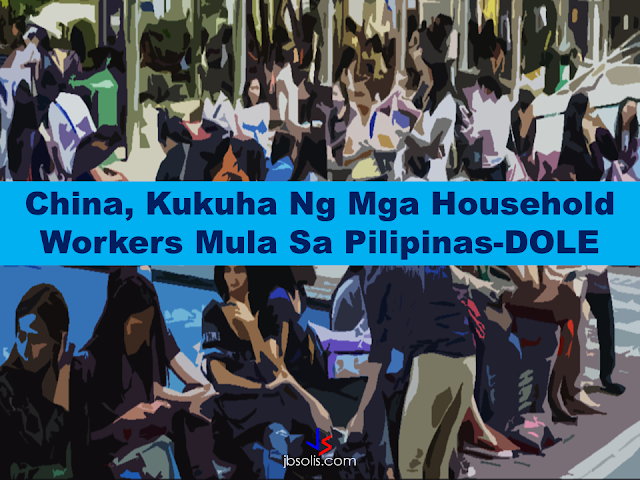 hina's plans to hire Filipino household workers to their five major cities. It could be a big break for the household workers who are trying their luck in finding greener pastures by working overseas China's plans to hire Filipino household workers to their five major cities including Beijing and Shanghai, was reported at a local newspaper Philippine Star. it could be a big break for the household workers who are trying their luck in finding greener pastures by working overseas  China is offering up to P100,000  a month, or about HK$15,000. The existing minimum allowable wage for a foreign domestic helper in Hong Kong is  around HK$4,310 per month.  Dominador Say, undersecretary of the Department of Labor and Employment (DOLE), said that talks are underway with Chinese embassy officials on this possibility. China's five major cities, including Beijing, Shanghai and Xiamen will soon be the haven for Filipino domestic workers who are seeking higher income.  DOLE is expected to have further negotiations on the launch date with a delegation from China in September.   according to Usec Say, Chinese employers favor Filipino domestic workers for their English proficiency, which allows them to teach their employers' children.    Chinese embassy officials also mentioned that improving ties with the leadership of President Rodrigo Duterte has paved the way for the new policy to materialize.  There is presently a strict work visa system for foreign workers who want to enter mainland China. But according Usec. Say, China is serious about the proposal.   Philippine Labor Secretary Silvestre Bello said an estimated 200,000 Filipino domestic helpers are  presently working illegally in China. With a great demand for skilled domestic workers, Filipino OFWs would have an option to apply using legal processes on their desired higher salary for their sector. Source: ejinsight.com, PhilStar Read More:  The effectivity of the Nationwide Smoking Ban or  E.O. 26 (Providing for the Establis