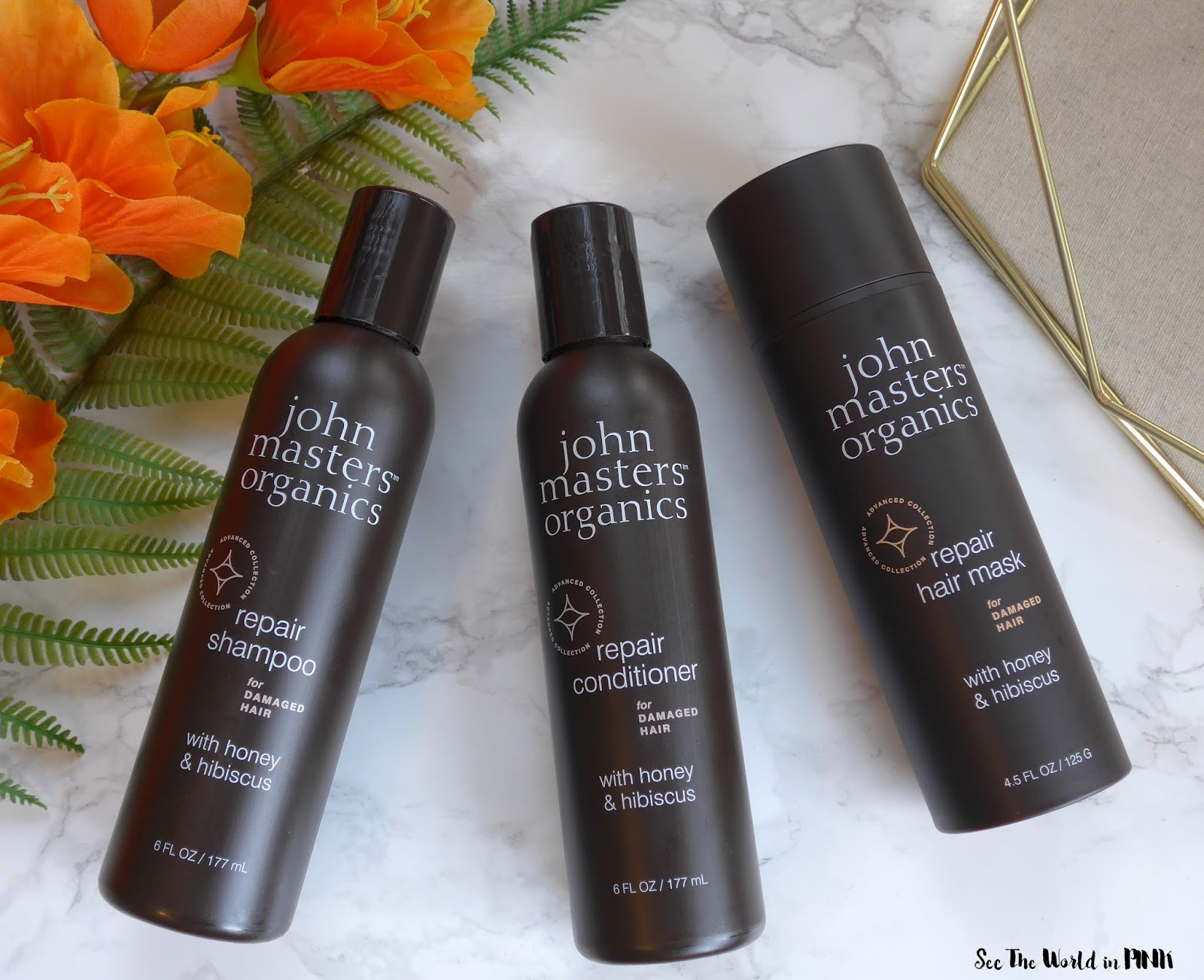 John Masters Organics Repair Line with Honey & Hibiscus