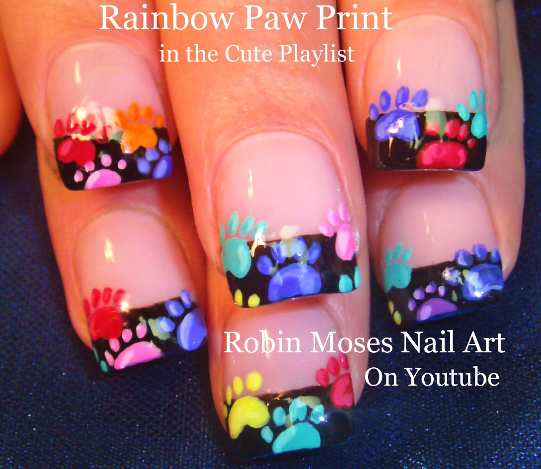 Robin Moses Nail Art: Rainbow Animal Paw Prints! Super ...