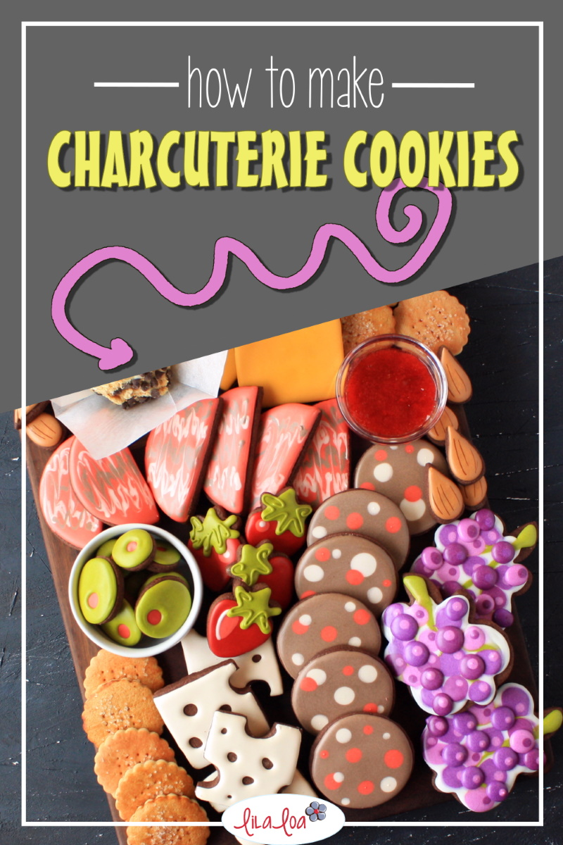 How to make charcuterie board decorated sugar cookies