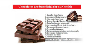 Chocolates are beneficial for our health