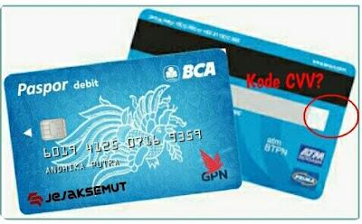 dimana letak kode cvv kartu debit bca gpn