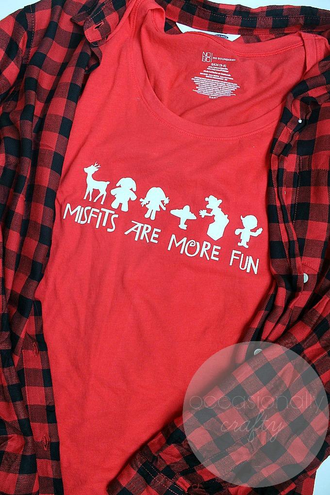 Misfit Toys Christmas Tshirt Occasionally Crafty Misfit