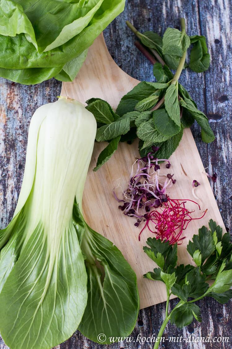 Zutaten Pak-Choi-Salat