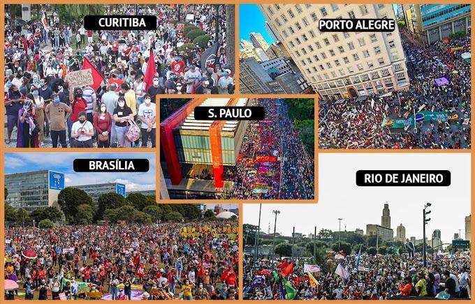 29M pelo fora Bolsonaro chegou a mais de 200 cidades e ganhou as redes sociais