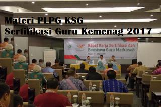 Materi PLPG KSG Sergur Kemenag 2017