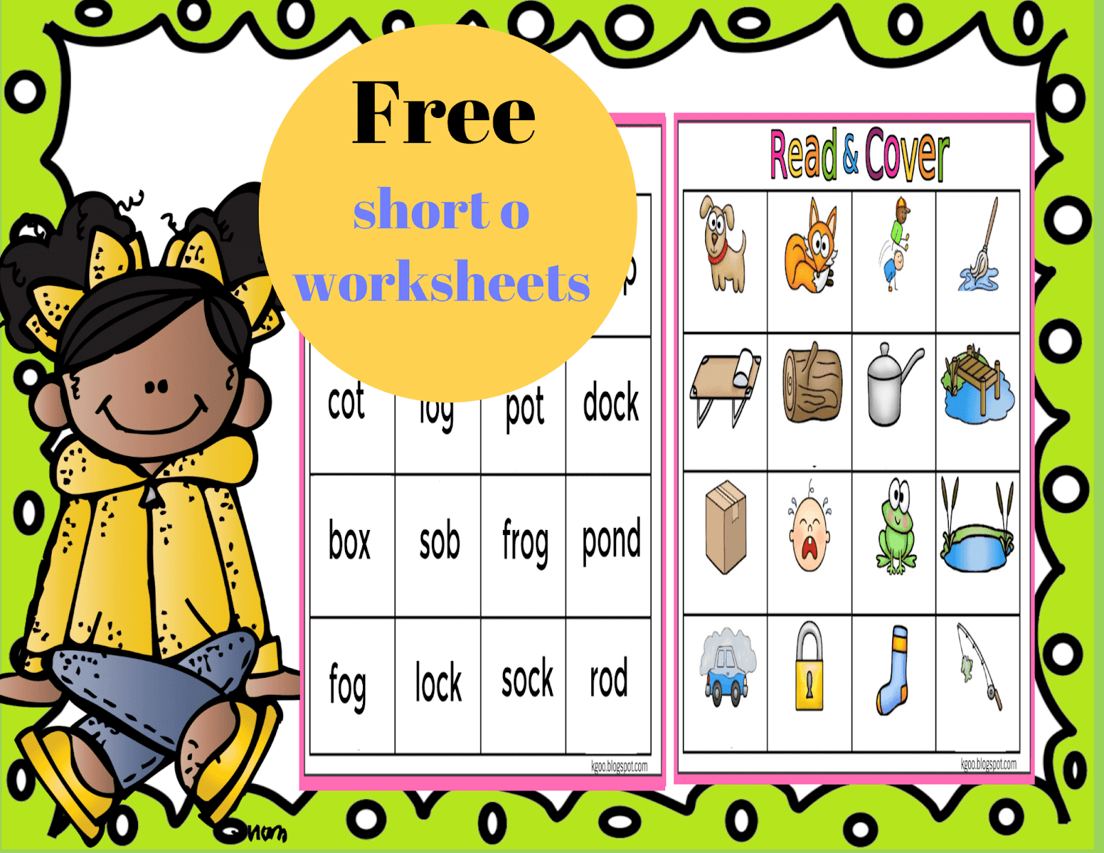 Short O Phonics Worksheets