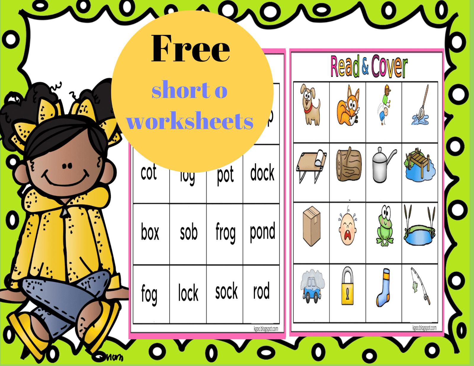 Short O Phonics Worksheets