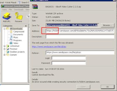 Cara atasi idm cannot download this file