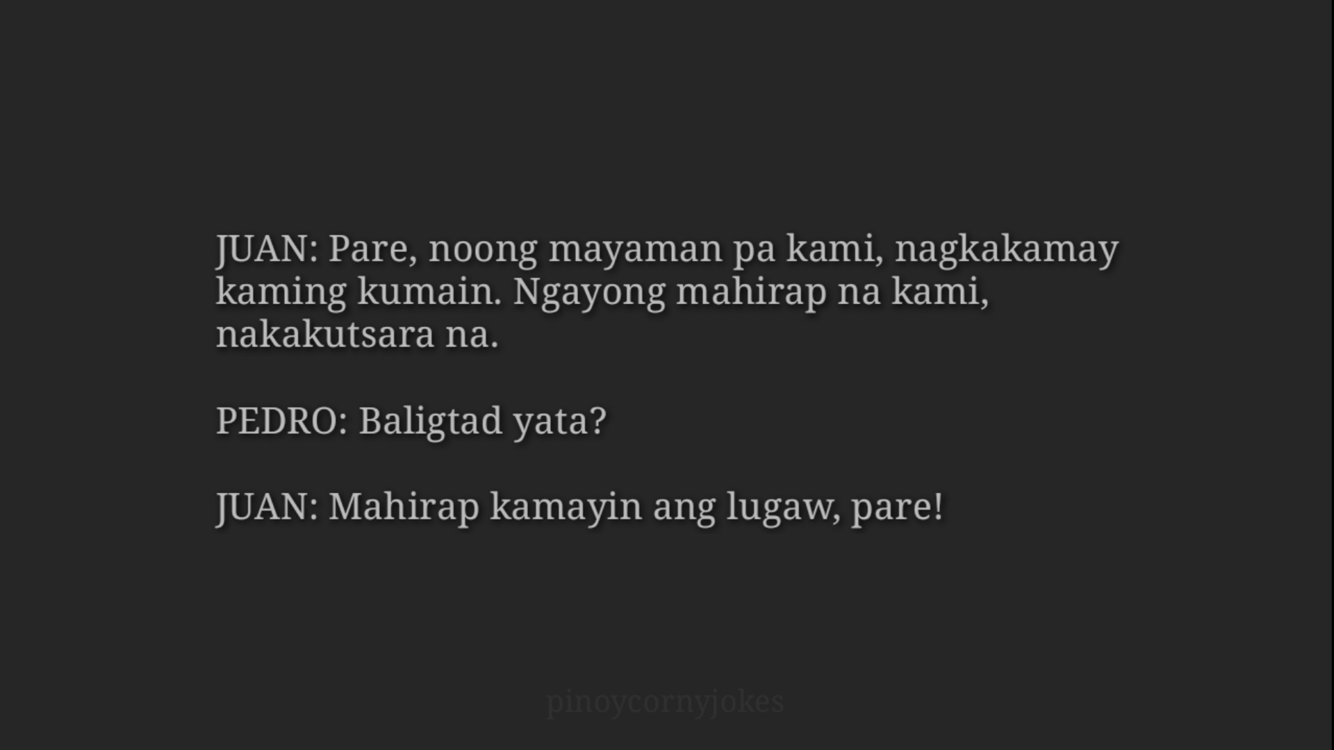 Tagalog Jokes 2021 - Noong Mayaman