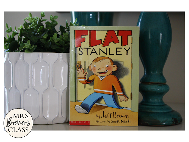 Flat Stanley book study unit Common Core literacy companion activities for 1st and 2nd