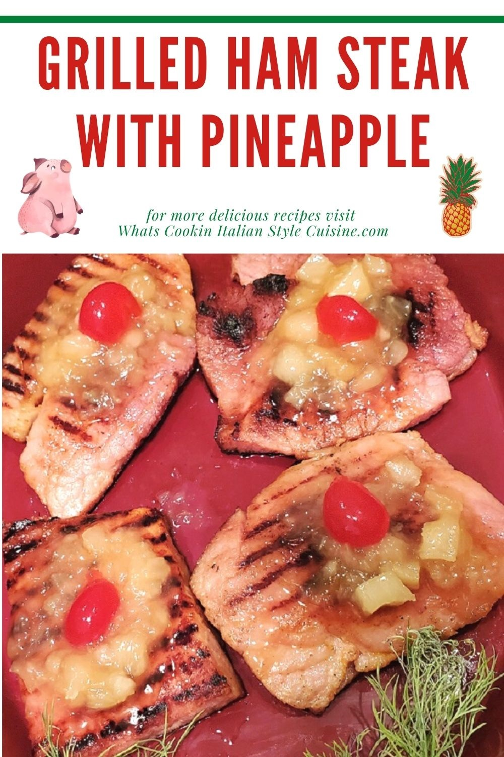 this is a pin for later on how to make ham steaks glaze with pineapple