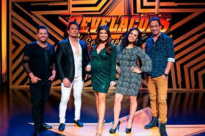 Dupla Hugo & Tiago, Amanda Françozo, Adriana Sanchez  e Rodrigo Costa - Juan Ribeiro / Divulgação TV Aparecida