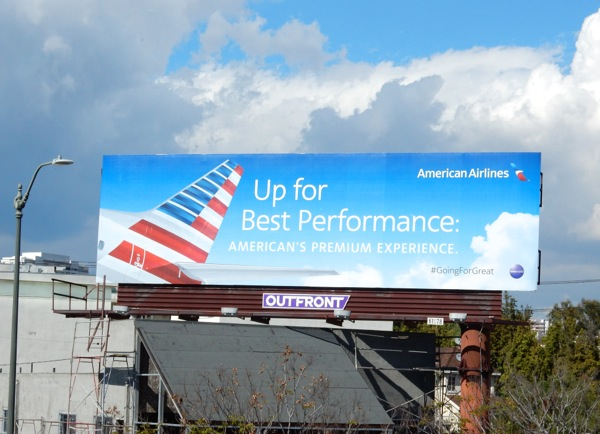 American Airlines best performance billboard