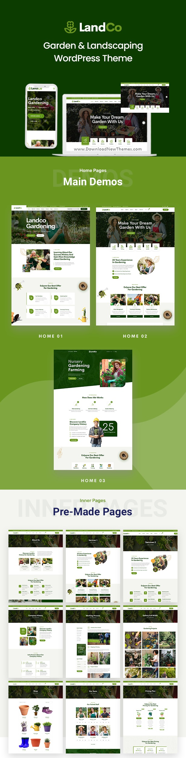 Garden and Landscaping WordPress Theme