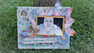 Craft Criativas [DIY] Autum Canvas Mixedmedia