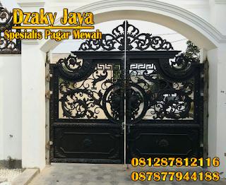 Pintu Pagar Besi Tempa Klasik Mewah