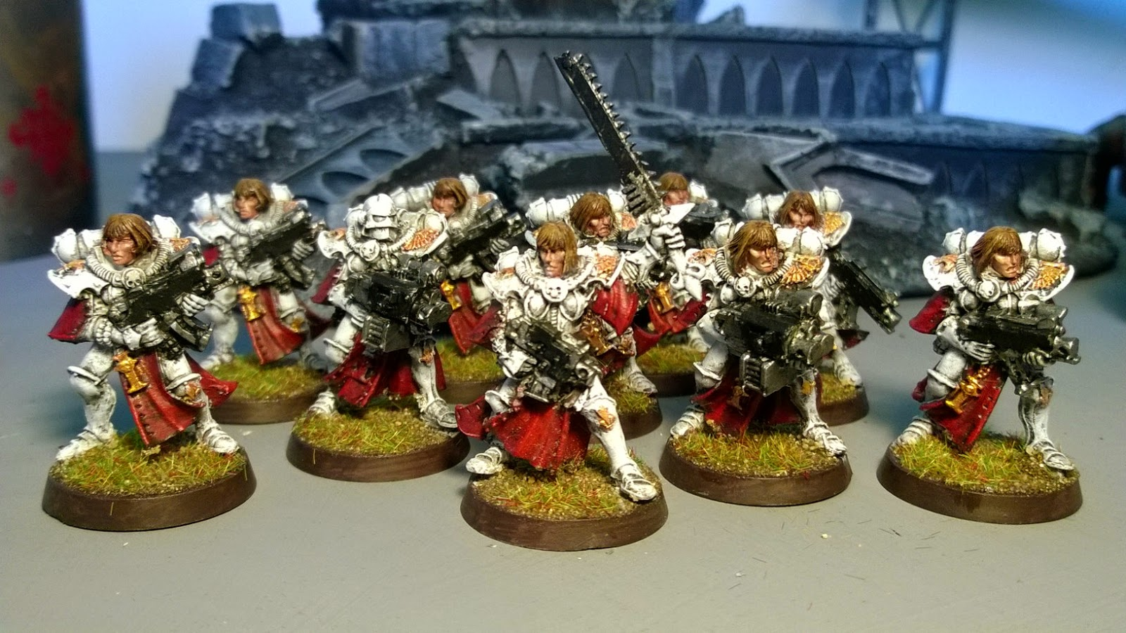 Sisters of battle troop squad red white