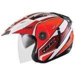 Helm INK T1 Seri 3 Putih Merah Orange