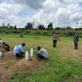 Kedapatan Tak Pakai Masker di Inhil, 57 Orang di Sanksi Bersihkan Makam Covid 19