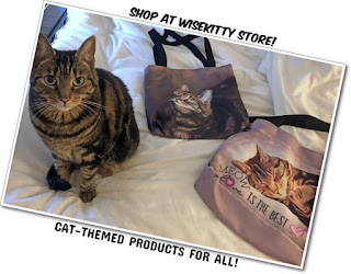 Cat with tote bag