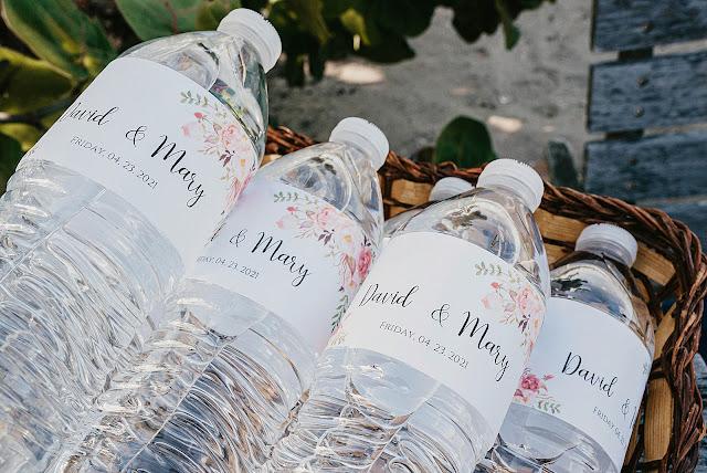 Custom Wedding water bottles