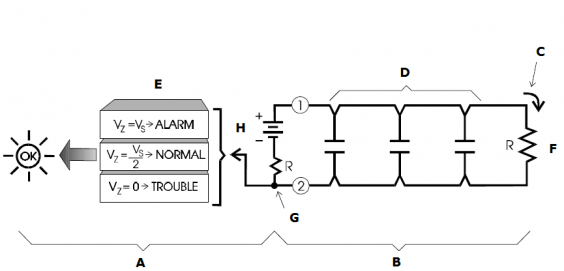 Direct Current Basic Fire Alarm System