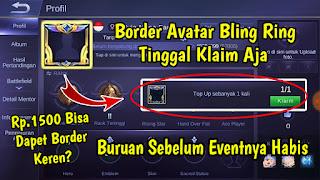 Cara Mudah Mendapatkan Border Avatar Bling Ring Mobile Legends