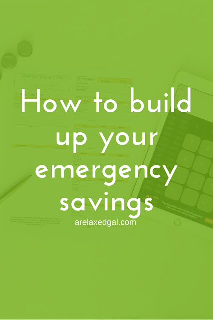 How to build up your emergency savings this year | arelaxedgal.com