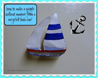 wiggle sailboat magnet
