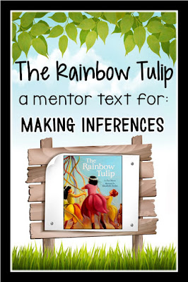 This blog post contains a FREE inference worksheet that can be used as a followup activity to reading the story The Rainbow Tulip.