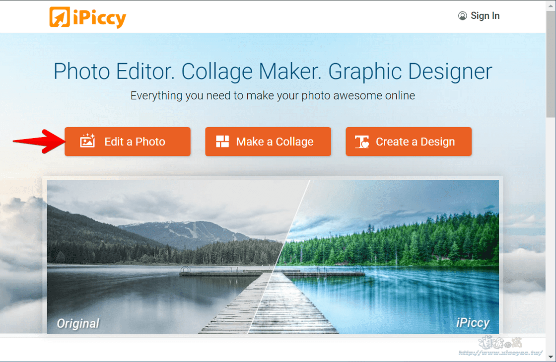 iPiccy 百種濾鏡特效、臉部修飾、影像合成等多項功能的線上照片編輯工具
