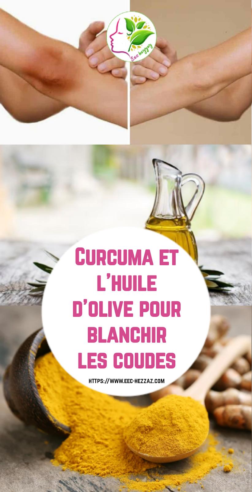 Curcuma et l'huile d'olive pour blanchir les coudes