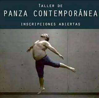 Hombre con barriga haciendo danza