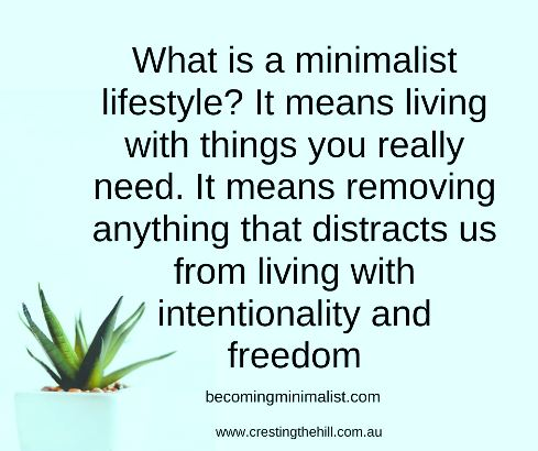 What is a minimalist lifestyle? It means living with things you really need. It means removing anything that distracts us from living with intentionality and freedom. https://www.becomingminimalist.com › what-is-minimalism