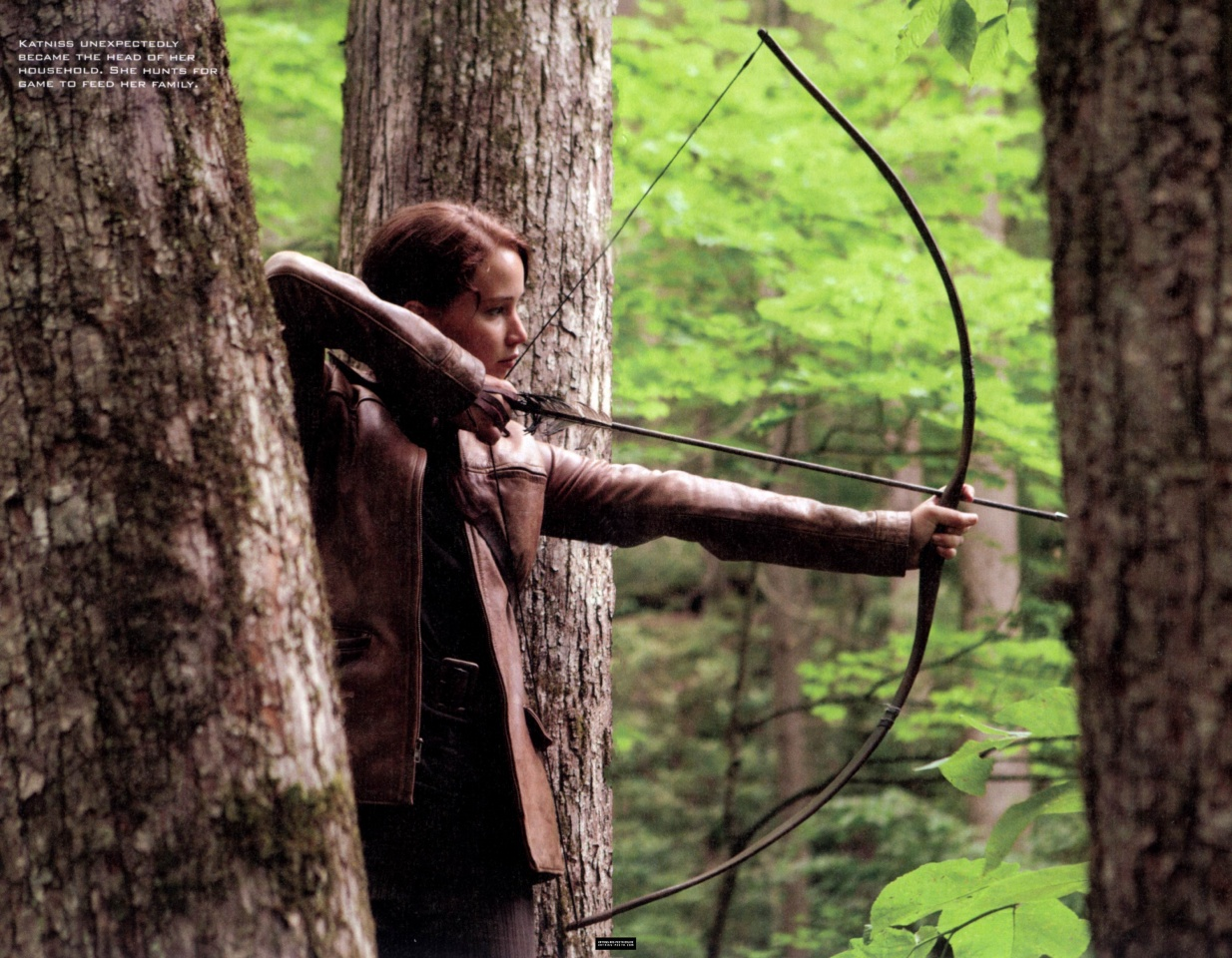 the world of hunger games magazine scans more stills from the katniss hunts to bring food for her family