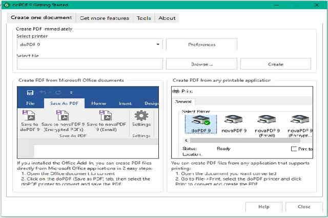 تنزيل برنامج doPDF لإنشاء ملفات بيدي إف للويندوز